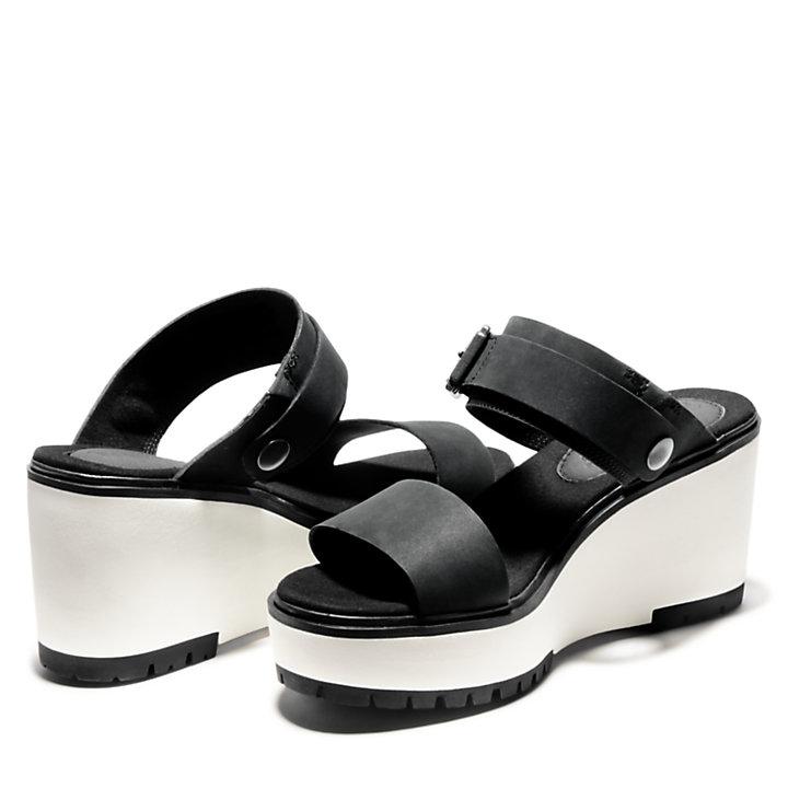 Sandale compensée Koralyn pour femme en noir-