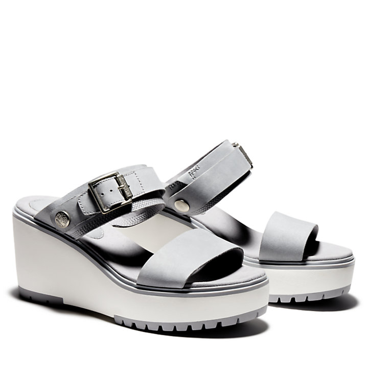 Koralyn Wedge Sandal for Women in Grey-