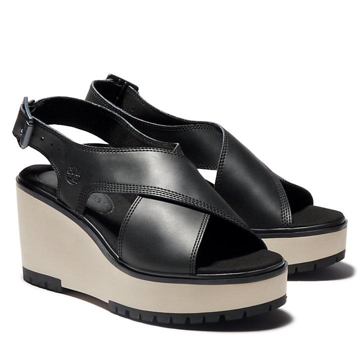 Sandale compensée Koralyn pour femme en noir