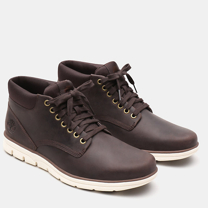 Bradstreet Leather Chukka voor Heren in donkerbruin-