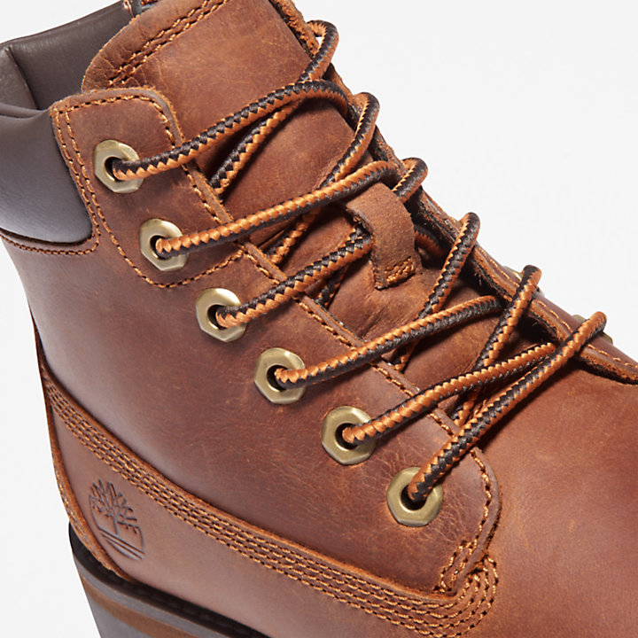 Courma Kid 6 Inch Boot for Youth in Brown-