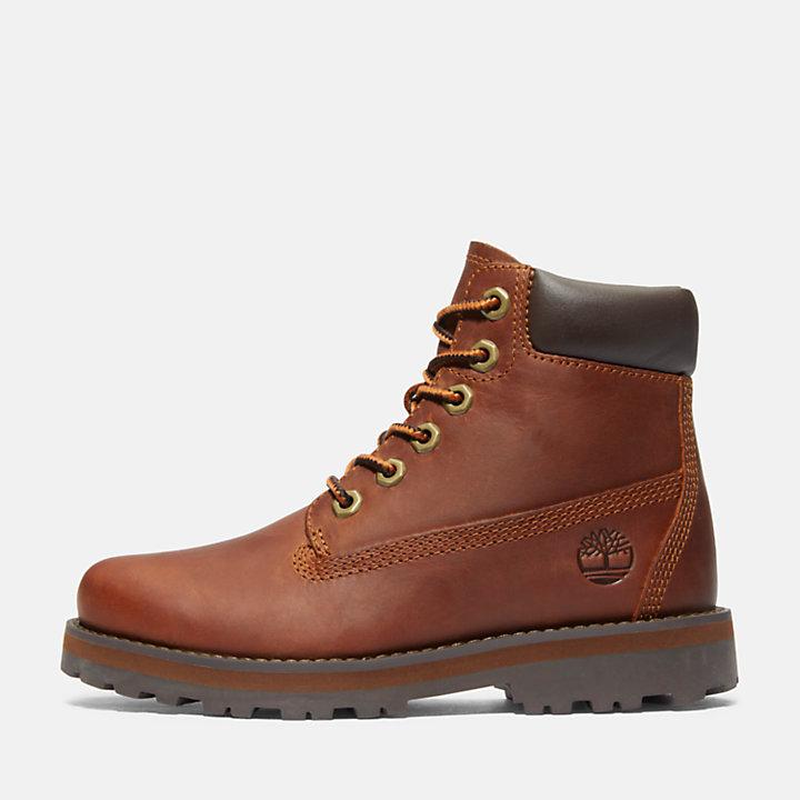 Courma 6-Inch-Stiefel mit Seitenreißverschluss für Kinder in Braun-