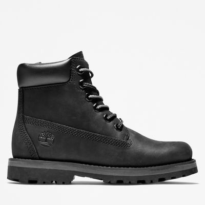 Courma+Kid+6+Inch+Boot+for+Youth+in+Black