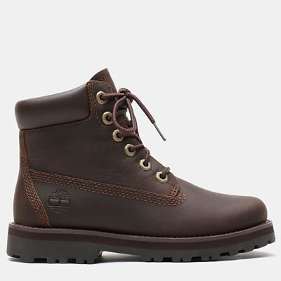 Courma+Kid+6+Inch+Boot+for+Youth+in+Dark+Brown