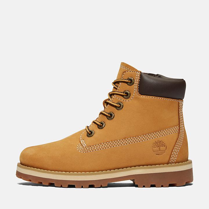 6-Inch Boot Courma zippée sur le côté pour enfant en jaune-