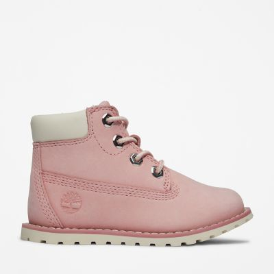 Pokey+Pine+6+Inch+Boot+for+Toddler+in+Pink