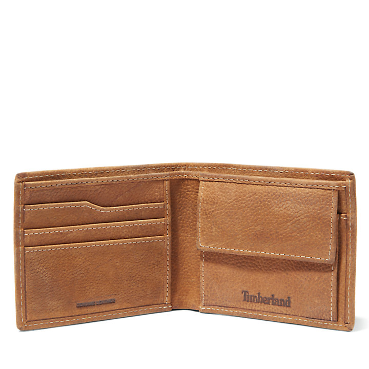 Monadnock Wallet with Coin Pocket for Men in Yellow-
