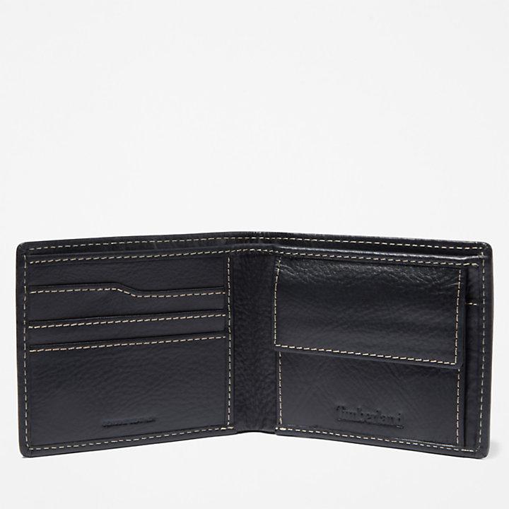 Monadnock Brieftasche mit Münzfach für Herren in Schwarz-