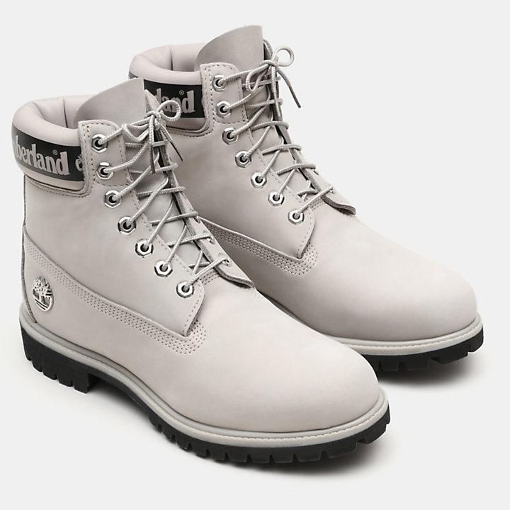 Exclusive 6 Inch Premium Boot for Men in Light Grey-