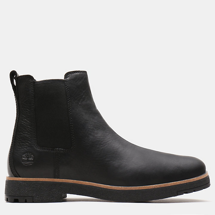 Folk Gentleman Chelsea Boot for Men in Black-