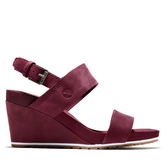 Capri Sunset Wedge Sandal for Women in Burgundy | Timberland