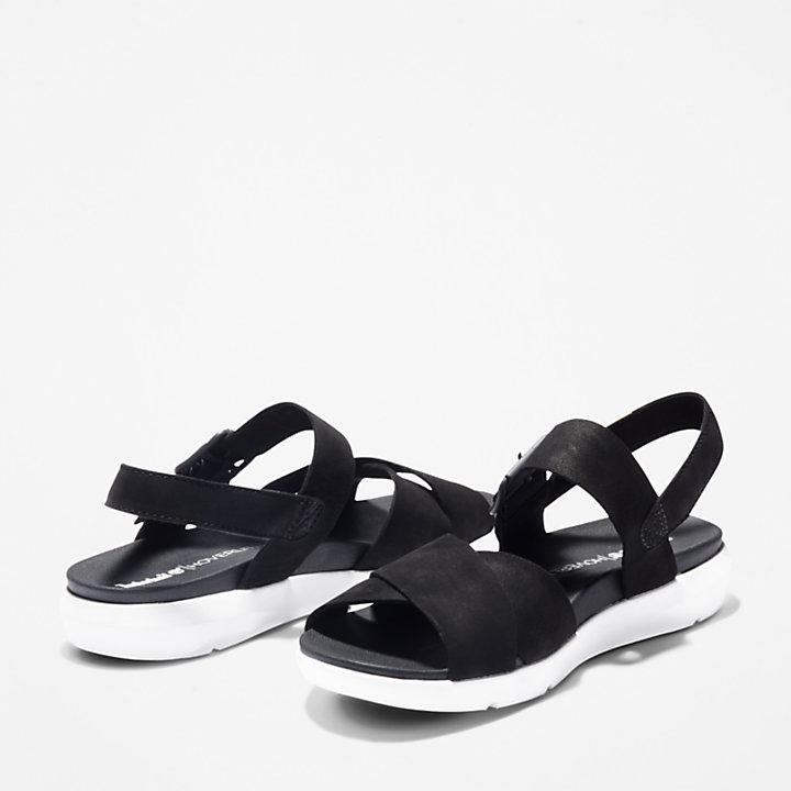 Sandalia Wilesport para Mujer en color negro-