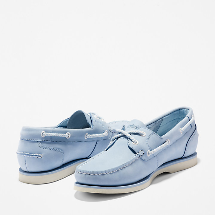 Chaussure bateau classique pour femme en bleu-