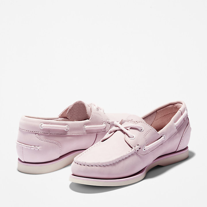 Classic Boat Shoe for Women in Pink-