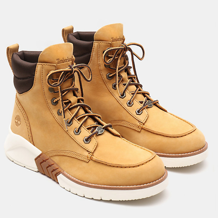MTCR Mocassin Toe Boot for Men in Yellow Nubuck-