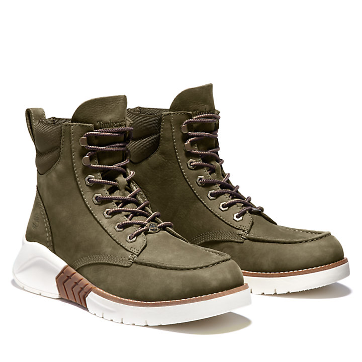 MTCR Mocassin Toe Boot for Men in Green Nubuck-