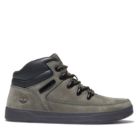 Davis Square Mid Hiker for Junior in Green | Timberland
