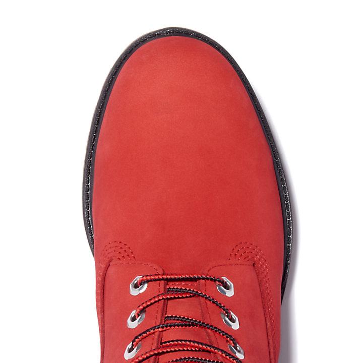 Bota 6 Inch Premium para Hombre en rojo-