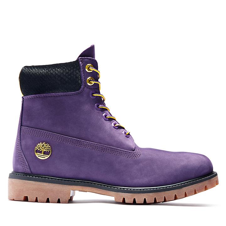 Premium 6-Inch-Herrenstiefel in Violett-