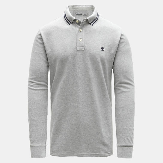 Millers River Tipped Polo Shirt for Men in Grey | Timberland