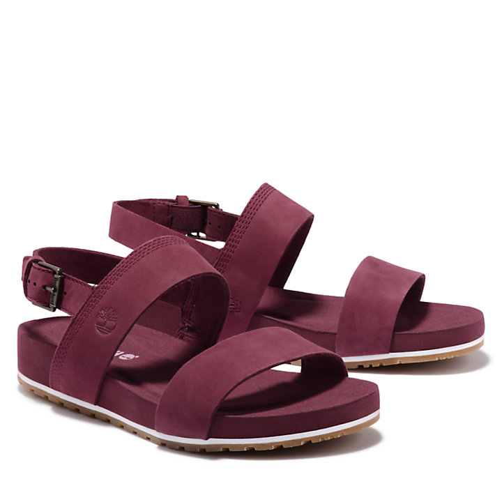 Malibu Waves Sandal for Women in Burgundy-