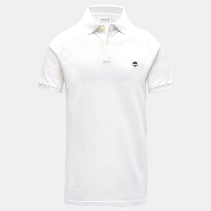 Millers Slim Poloshirt voor Heren in wit-