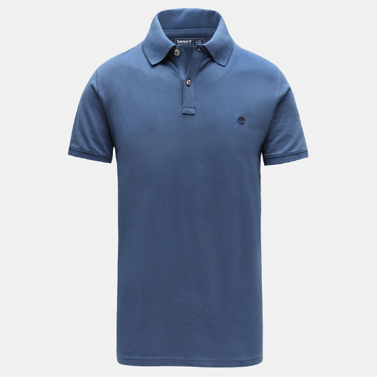 Millers River Slim Polo Shirt for Men in Blue | Timberland