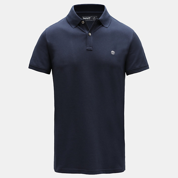 Millers River Slim Polo Shirt for Men in Navy-