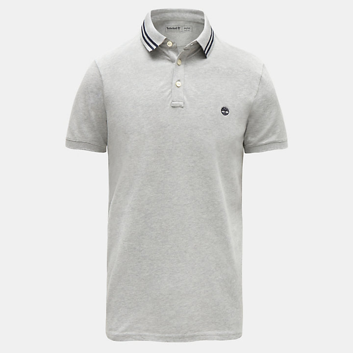 Millers River Polo Shirt for Men in Grey-