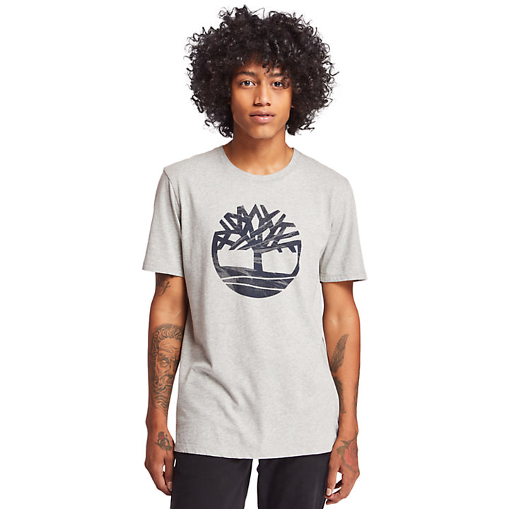 Kennebec River Tree Logo T-Shirt for Men in Grey-