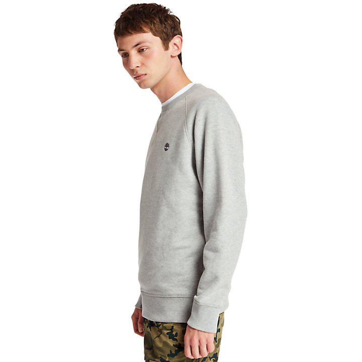 Exeter River Crew Neck Sweatshirt for Men in Grey-