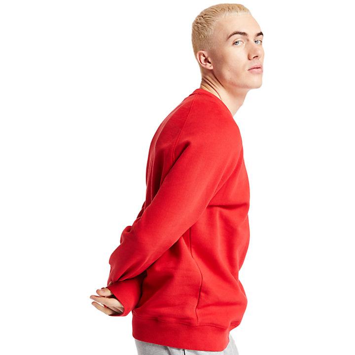 Sudadera de Cuello Redondo Exeter River para Hombre en rojo-