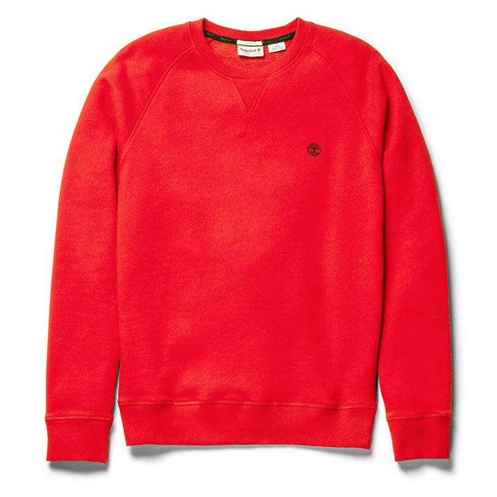 Exeter River Crew Neck Sweatshirt for Men in Red-