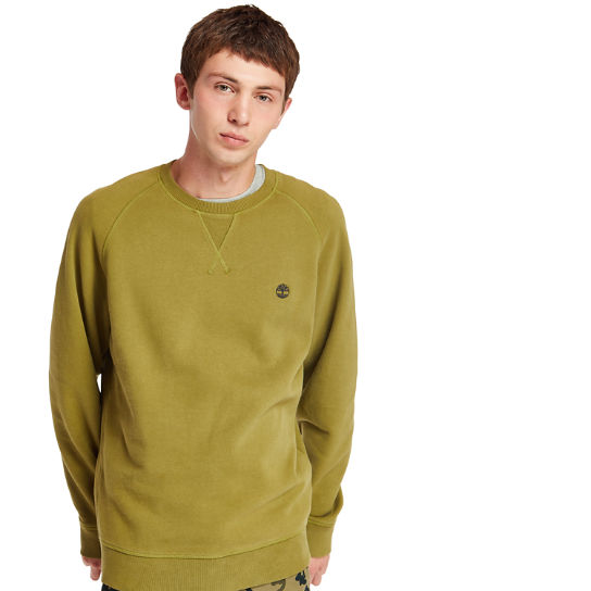 Exeter River Crew Neck Sweatshirt for Men in Dark Green | Timberland