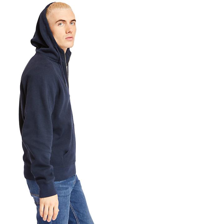 Camiseta con Cremallera Exeter River para Hombre en azul marino-