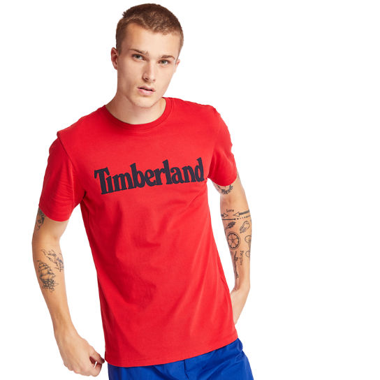 Kennebec River Timberland® T-Shirt for Men in Red | Timberland