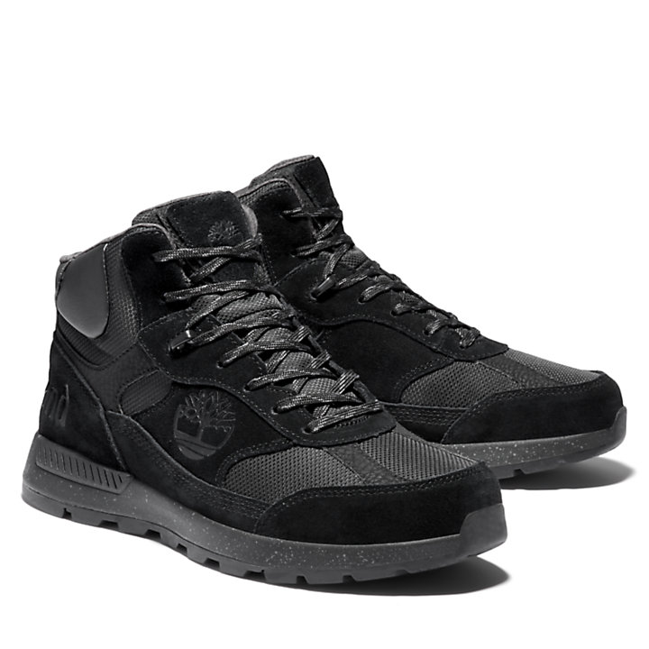 Field Trekker Mid Hiker for Men in Black-