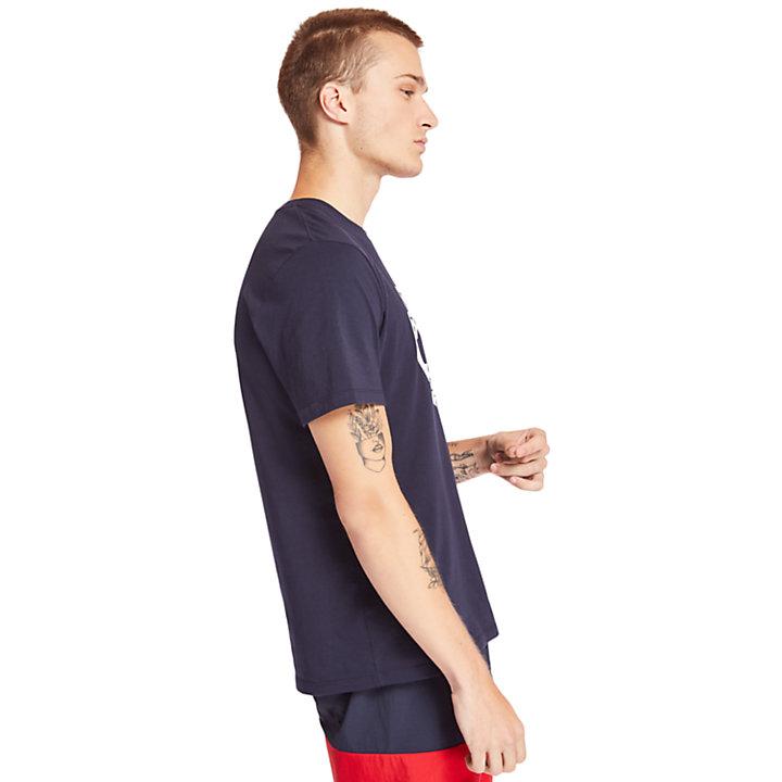 Tree Logo T-Shirt for Men in Navy-