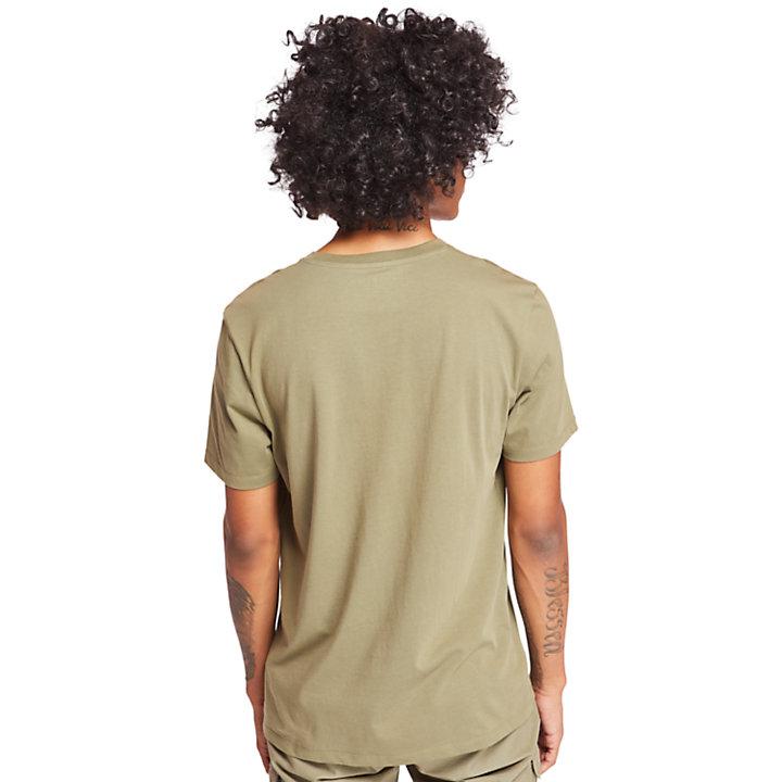 T-shirt da Uomo con Logo ad Albero in verde-