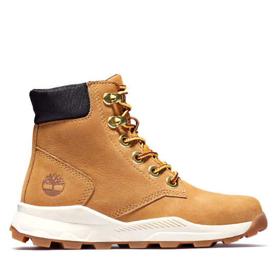Brooklyn High Top Boot for Junior in Yellow | Timberland