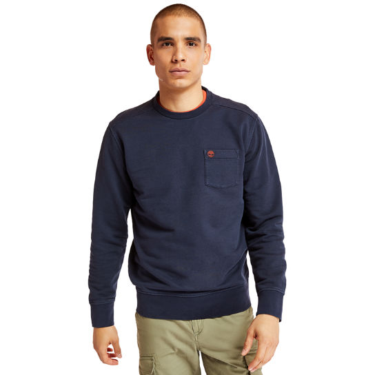 Sweat Sunwashed Crew pour homme en bleu marine | Timberland