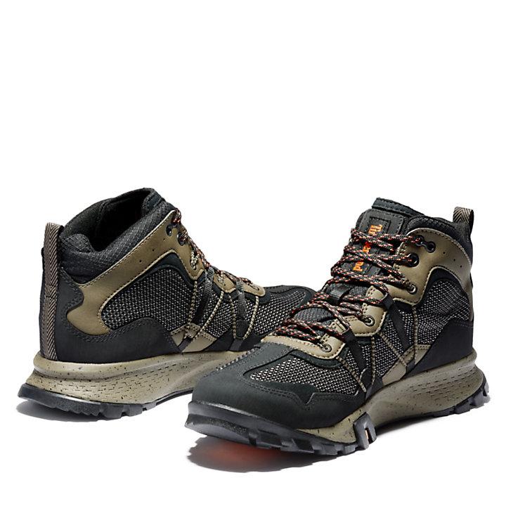 Bottine de randonnée mi-haute Garrison Trail pour homme en noir/marron-