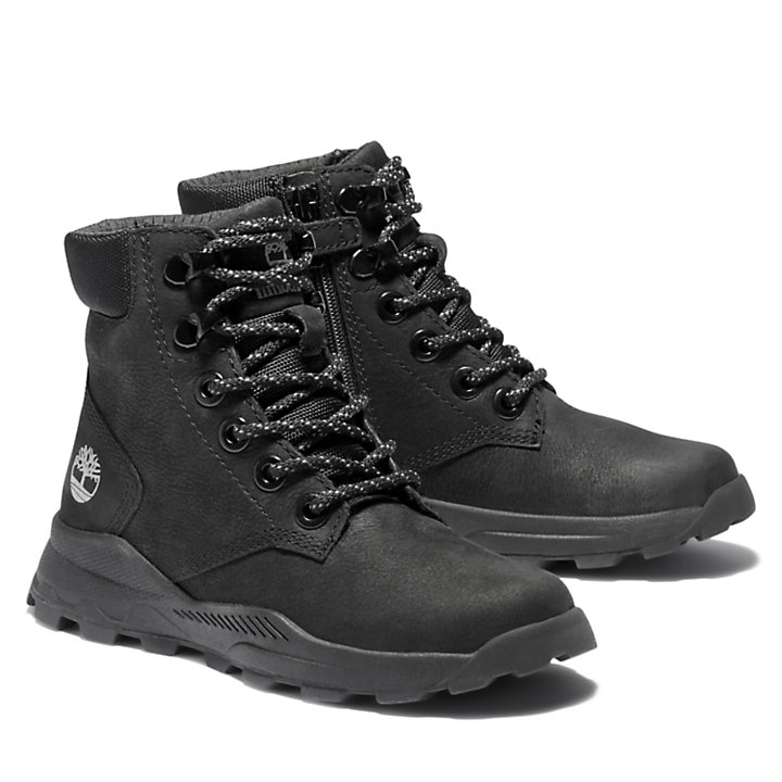 Brooklyn High Top Boots für Kinder in Schwarz-