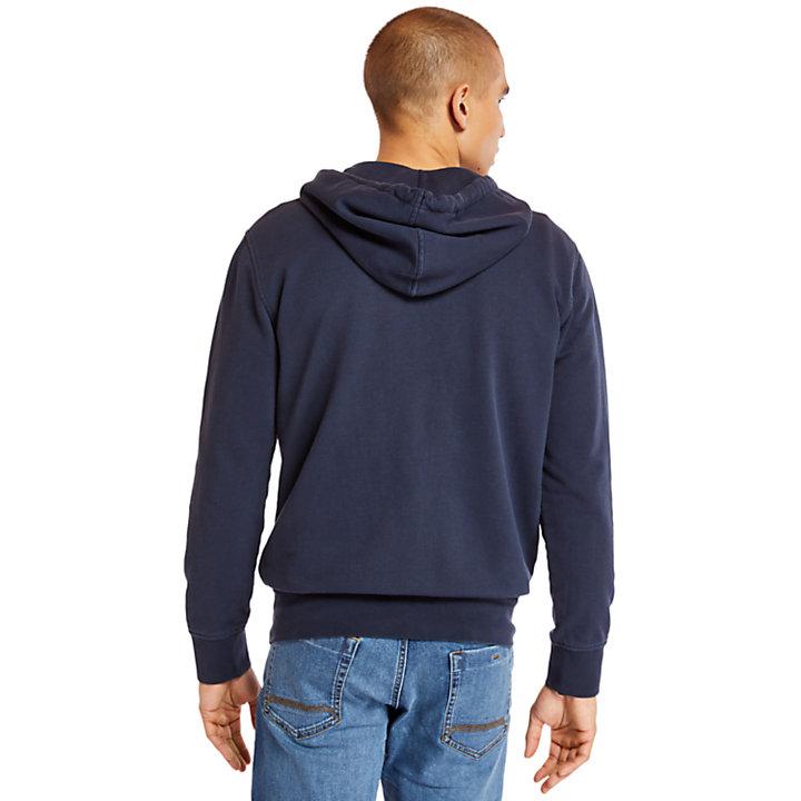 Sunwashed Sweatshirtjacke für Herren in Navyblau-