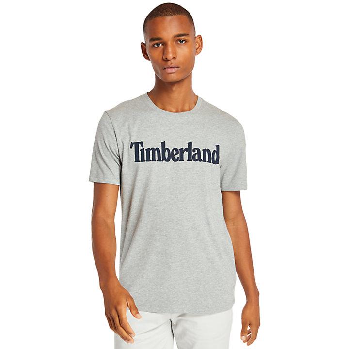Linear T-shirt voor Heren in grijs-