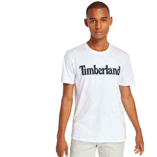Linear T-Shirt for Men in White | Timberland