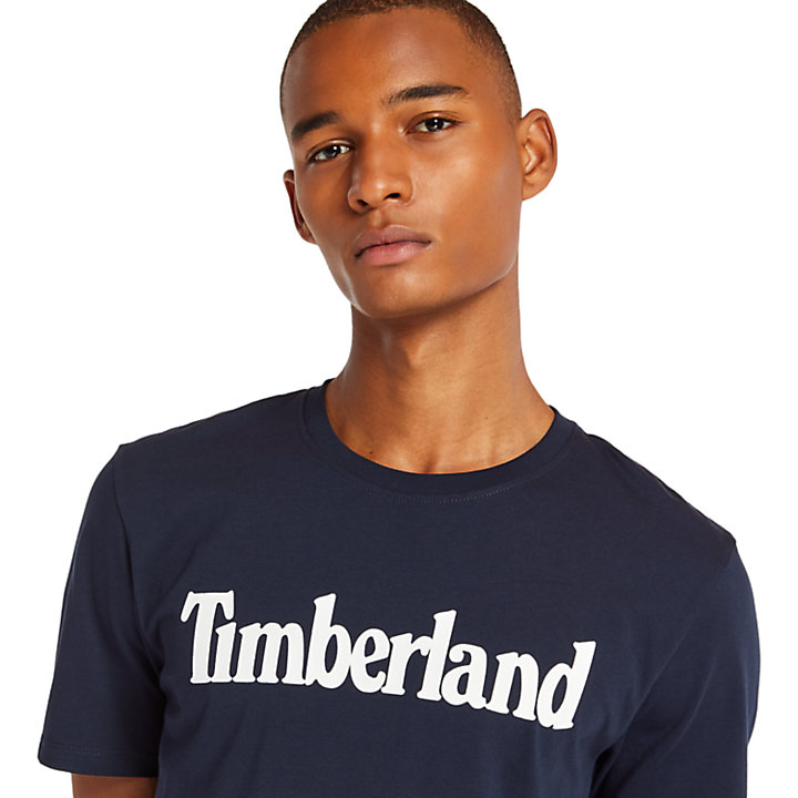 Linear T-Shirt for Men in Navy-