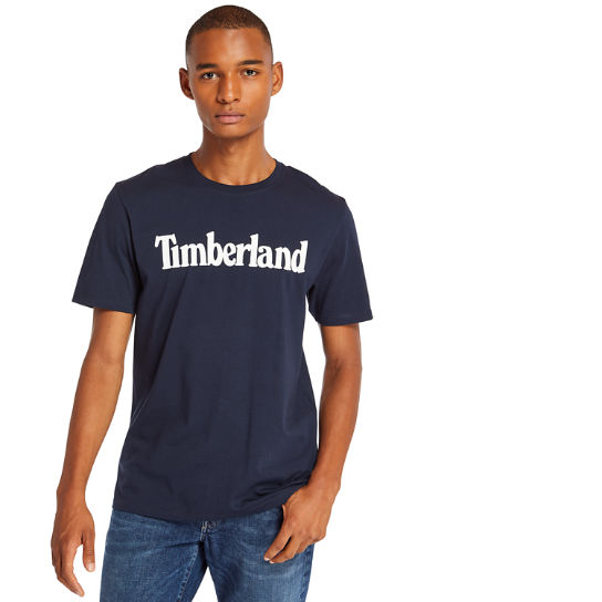 Linear T-Shirt for Men in Navy | Timberland