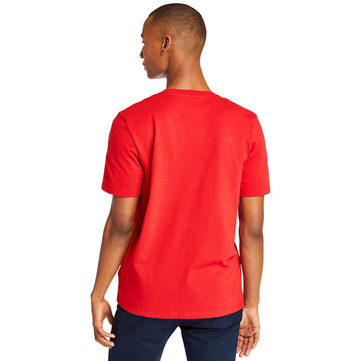 Linear T-Shirt for Men in Red-