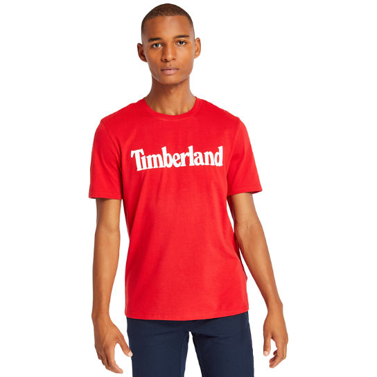 Linear T-Shirt for Men in Red | Timberland